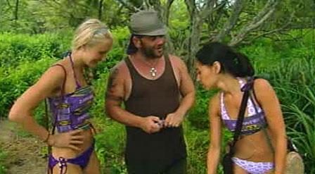 Krista Klumpp, Russell Hantz, Stephanie Valencia, Survivor: Redemption Island