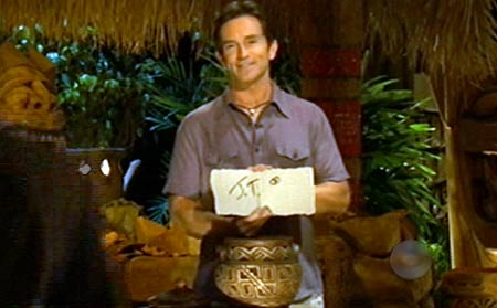 James Thomas Jr. and Jeff Probst - Survivor Tocantins